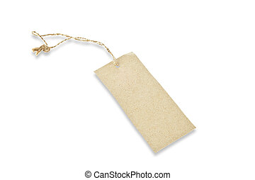 Brown paper tag