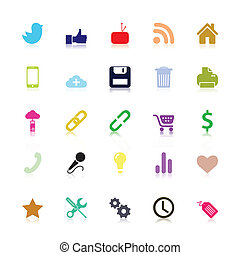 Colored social Icons