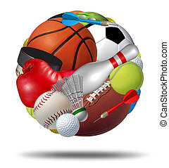 Sports Ball - Sports ball as a sphere made with an organized...