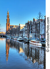 Westerkerk canal winter - Beautiful early morning winter...