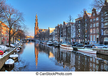 Prinsengracht winter - Beautiful early morning winter view...