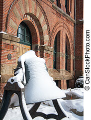 Bell covered in snow - Fresh snow on a bell in Charlottetown...