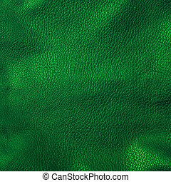 shiny green leather background close up