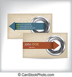 Camera shutter business cards