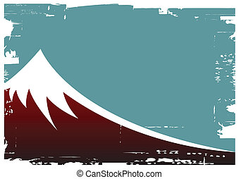 fuji mountain - vector illustration of fuji mountain