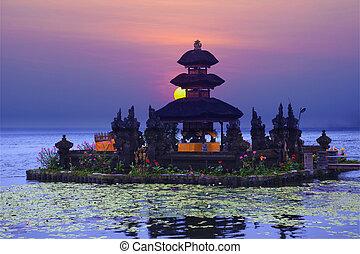 Pura Ulun Danu Bratan temple on Bali, Indonesia