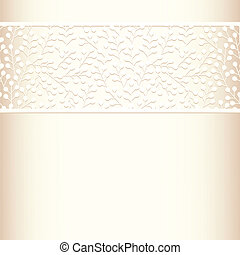 Invitation cards template - Invitation cards with lace to...