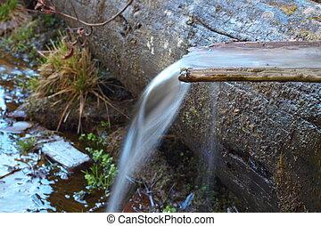 spring water flowing