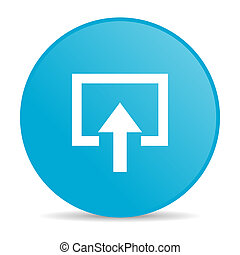 enter blue circle web glossy icon