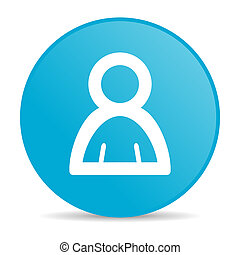 account blue circle web glossy icon