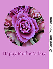 Purple rose mother's day card - purple rose mother's day...