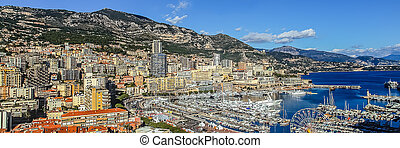principaute of monaco and monte carlo - harbour city of...