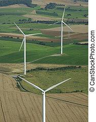 aéreo, disparar, vento, fazenda, França,...