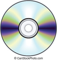 Compact disc - no mesh or transparency, blend and gradient...