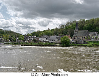 Small village on the Loire brink
