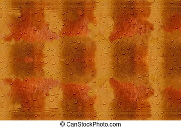 Orange brown background with raindrops - Abstract orange...