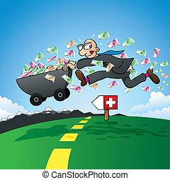 Tax evasion - vector illustration o
