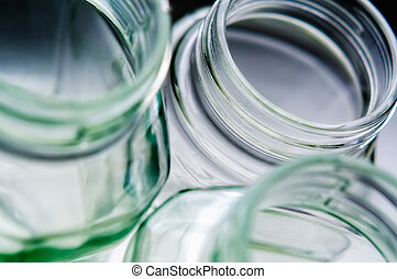 Glass Jars - Close-up absctract views of open glass jars