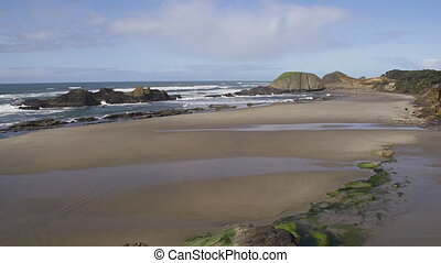 Gentle Surf Low Tide Seal Rock - The waves of the Pacific...