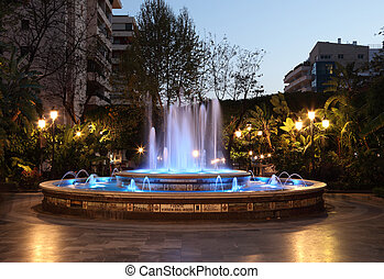 Fountain in Marbella, Andalusia Spain