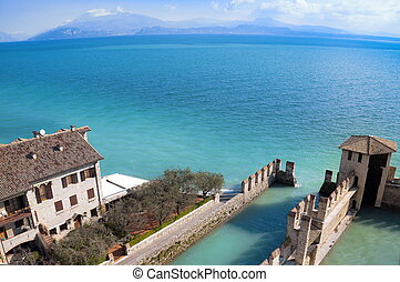 Water Castle in Sirmione - Sirmione water Castle on Garda...