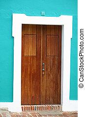 Doorway - A pretty doorway located in San Juan, Puerto Rico