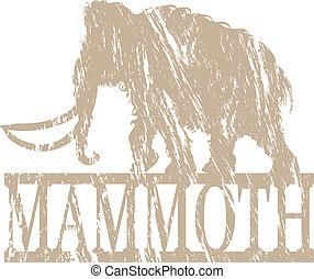 Mammoth - A mammoth in grunge effect