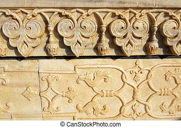 MAHAL, インド, 彫刻, 大理石,  TAJ,  AGRA
