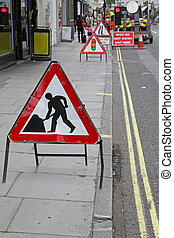 Road works - Traffic sign road works street repair...