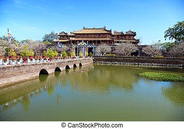 Forbidden city Hue, Vietnam - Ancient Forbidden city in Hue,...