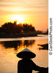 Vietnamese sunset - Sunset in Hoi An, Vietnam