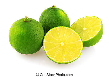 Fresh limes and slice