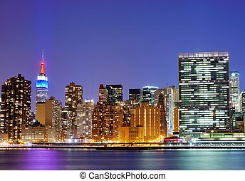 Midtown Manhattan - New York city famed skyline at Midtown...