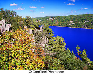 Devils Lake State Park Wisconsin - Beautiful view of Devils...