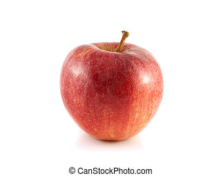 Isolated red apple on a white background Fresh diet fruit...