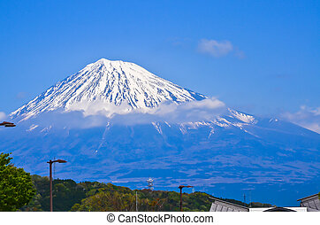 Mt Fuji view from the park car