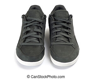 shoes  - Black shoes isolated on the white background