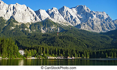 Zugspitze, Eibsee - view to the top of germany, the...