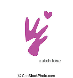 catch-love - Sign - catch love the idea of Vector