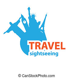 sightseeing - Sign - travel sightseeing, Vector idea
