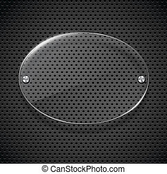 Metal texture with glass framework. Vector illustration