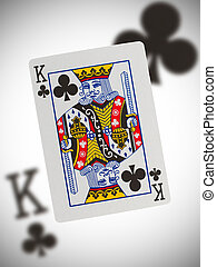 Playing card, king - Playing card with a blurry background,...