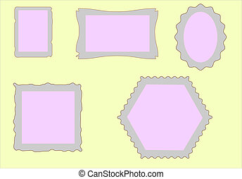 Frame for photos and invitations in
