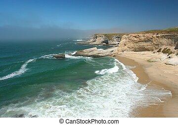 Bonny Doon - Pacific ocean coast in Bonny Doon California
