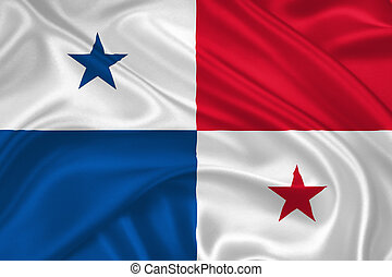 flag of Panama - lag of Panama waving with highly detailed...