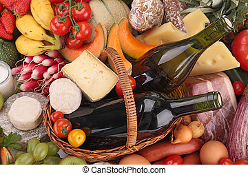 closeup on collection of food