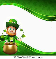 Leprechaun for patrick day - 3d rendered illustration of...