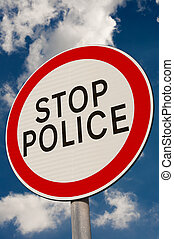 Stop Police sign