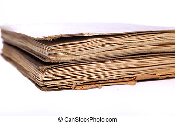 Vintage books with worn pages - Vintage books with...