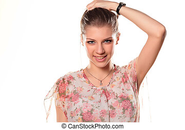 portret of beautyfull teen girl - portrait of a beautiful...